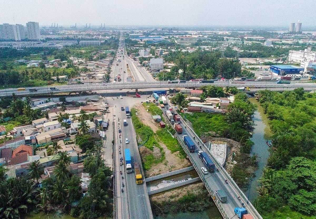 Dự án nút giao thông Mỹ Thủy (quận 2) sẽ được ưu tiên nguồn vốn để giải tỏa ùn tắc ở cảng Cát Lái và kết nối giao thông khu vực phía Đông thành phố. Ảnh: Quỳnh Trần.