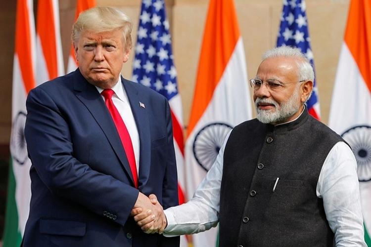 T?ng th?ng M? Trump và Th? t??ng ?n ?? Modi t?i?New Delhi h?i tháng hai. ?nh: Reuters.?