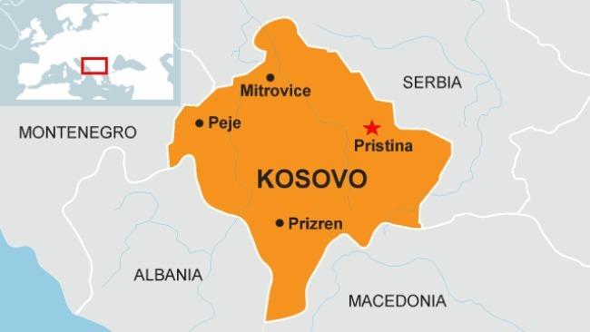 Vị trí Pristina ở Kosovo. Đồ họa: Rferl.org.