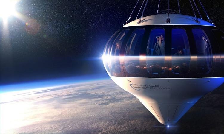 Spaceship Neptune bay lên cao nhờ lực nâng của khí cầu. Ảnh: Space.