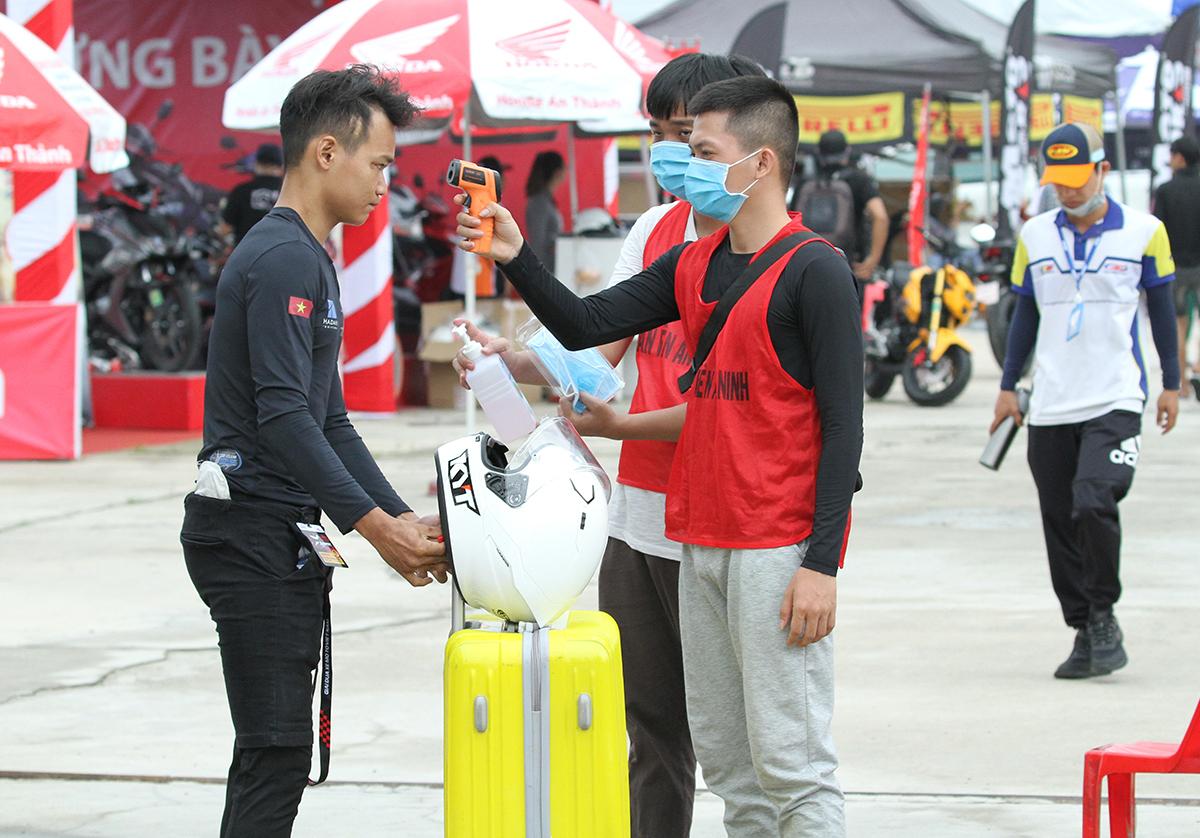 Công tác phòng dịch tại giải đấu.