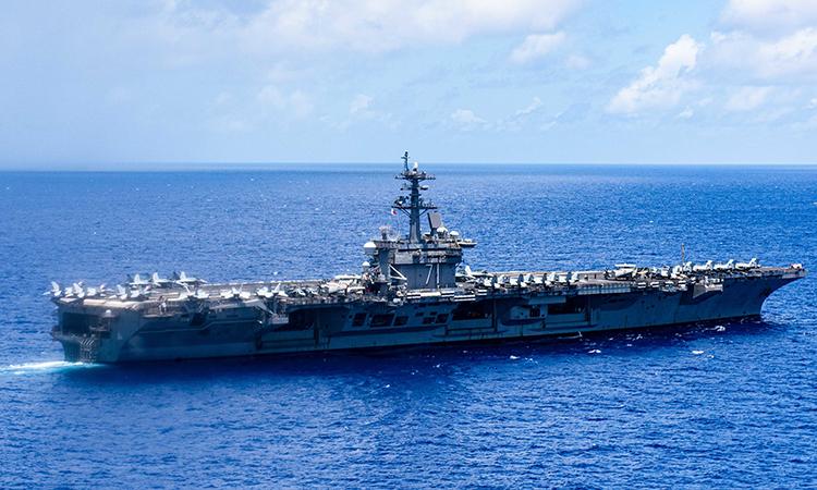 Tàu sân bay USS Theodore Roosevelt tiến vào Biển Philippine, ngày 17/6. Ảnh: US Navy.