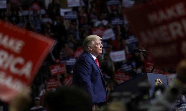 Tổng thống Mỹ Donald Trump tại buổi vận động tranh cử ở thành phố Tulsa, bang Oklahoma, ngày 23/6. Ảnh: Reuters.