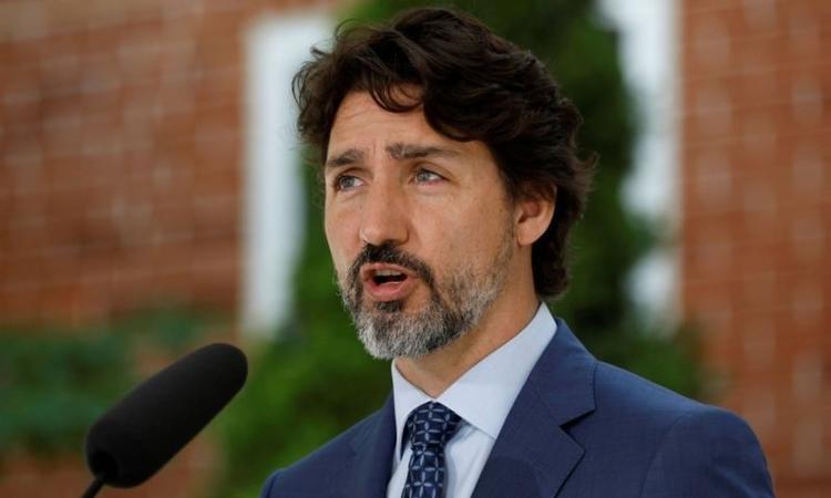 Thủ tướng Canada Justin Trudeau phát biểu tạiOttawa hôm 22/6. Ảnh: Reuters.