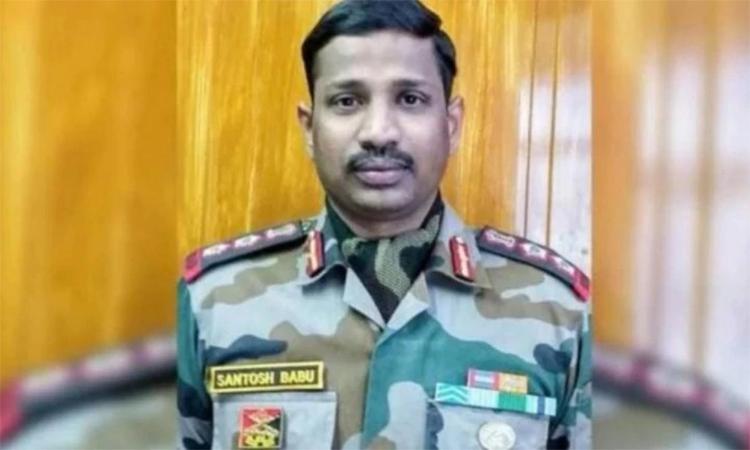 Đại tá Bikkumalla Santosh Babu, chỉ huy tiển đoàn Bihar 16, thiệt mạng trong vụ ẩu đả đêm 15/6 ở biên giới Ấn-Trung. Ảnh: ANI.