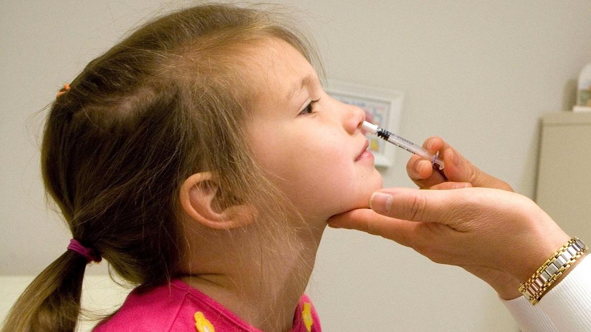 Vaccine ngừa cúm cho trẻ em là một trong những loại dạng xịt đang được sử dụng. Ảnh: John Harrington/Newswire.