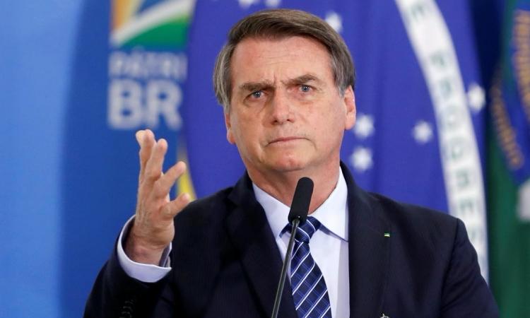 Tổng thống Brazil Jair Bolsonaro phát biểu tại một sự kiện ở thủ đô Brasilia hồi tháng 8 năm ngoái. Ảnh: Reuters.