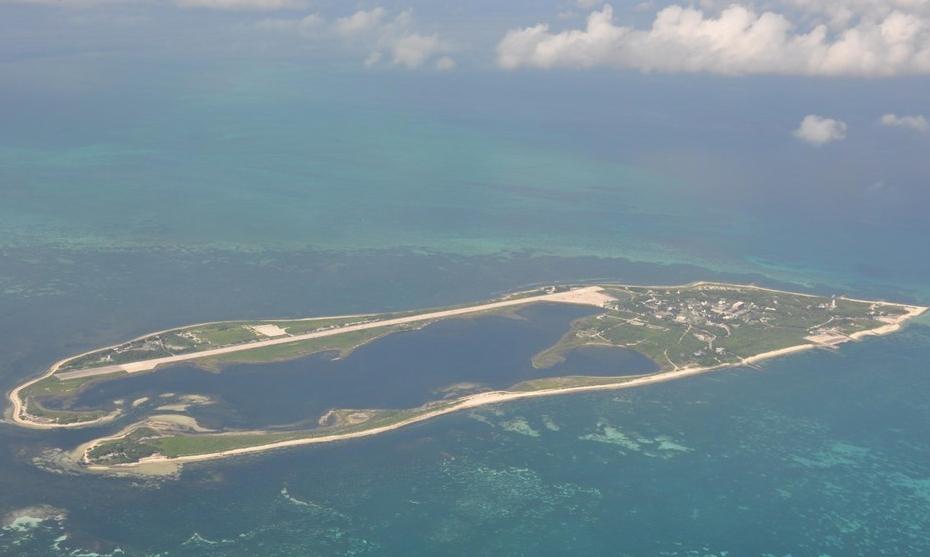 Đảo Đông Sa do Đài Loan kiểm soát, Trung Quốc đại lục tuyên bố chủ quyền. Ảnh: CNA.