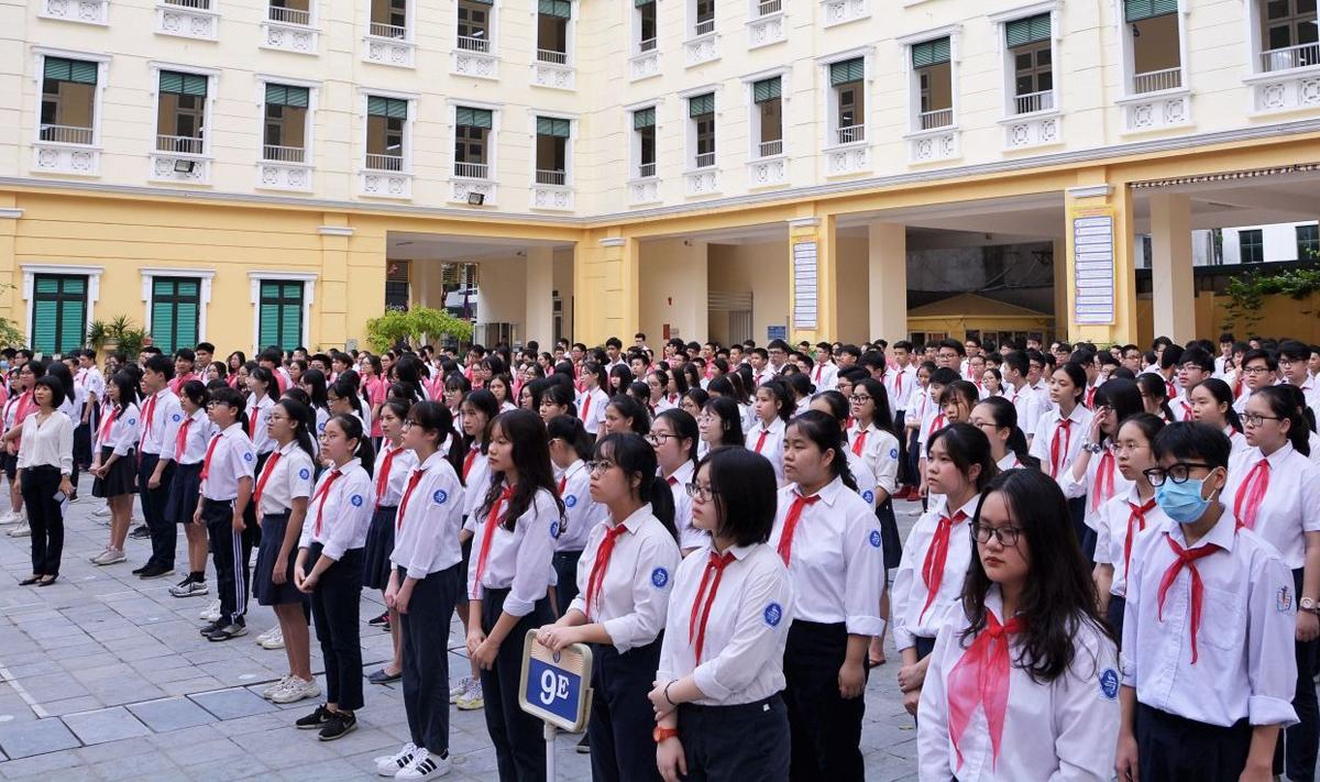 Học sinh trường THCS Trưng Vương. Ảnh: Trường Trưng Vương.