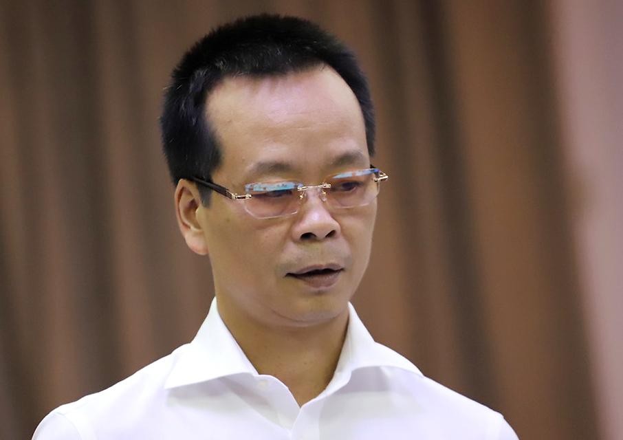 Ông Cao Văn Thành,Phó Cục trưởng cục Phòng chống tệ tạn xã hội, phát biểu tại hội thảo sáng 25/6. Ảnh: Hà An.