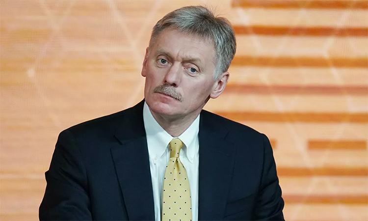 Phát ngôn viên Điện Kremlin Dmitry Peskov trong buổi trả lời báo chí thường niên của Tổng thống Vladimir Putin tại Moskva, Nga, tháng 12/2019. Ảnh: RIA Novosti.