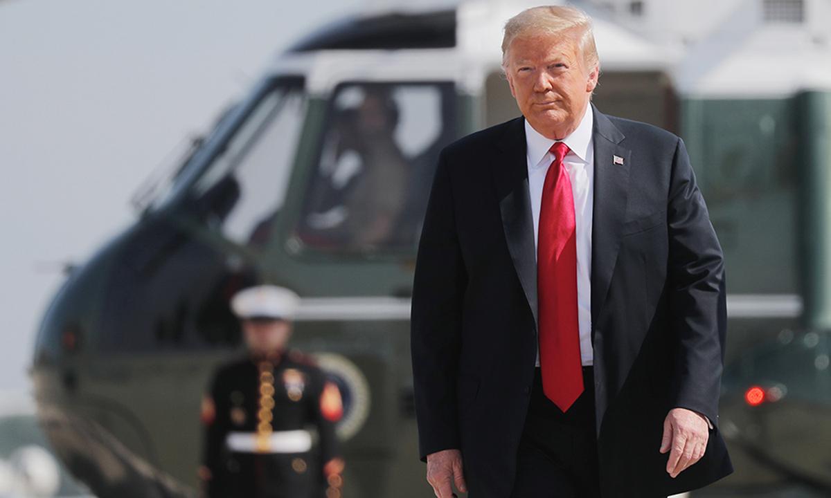 Tổng thống Trump tại căn cứ không quân Andrews, ở Maryland, Mỹ  hôm 23/6. Ảnh: Reuters.