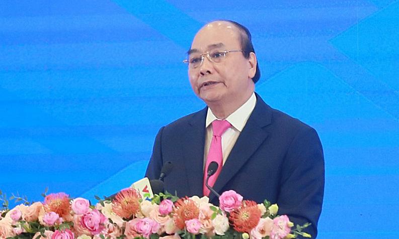 Thủ tướng Việt Nam Nguyễn Xuân Phúc trong Khai mạc HNCC ASEAN 36 sáng nay tại Hà Nội. Ảnh: Giang Huy