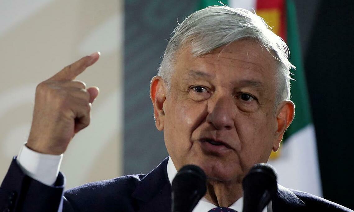 Tổng thống Obrador phát biểu tạiCiudad Juarez, Mexico, ngày 10/1. Ảnh: Reuters.