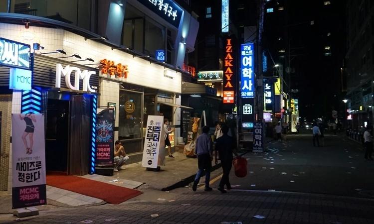 Một cơ sở room salon tại Hàn Quốc. Ảnh: SCMP.