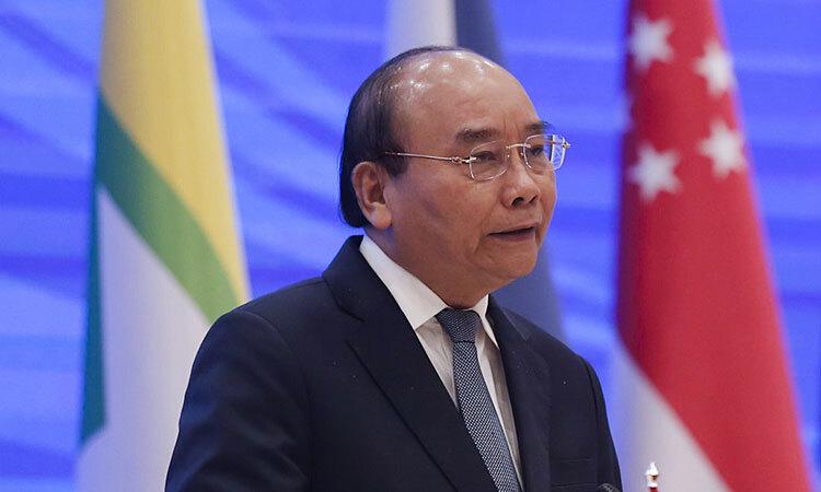 Thủ tướng Nguyễn Xuân Phúc chủ trì họp báo kết thúc HNCC 36 chiều 26/6 tại Hà Nội. Ảnh:Giang Huy.