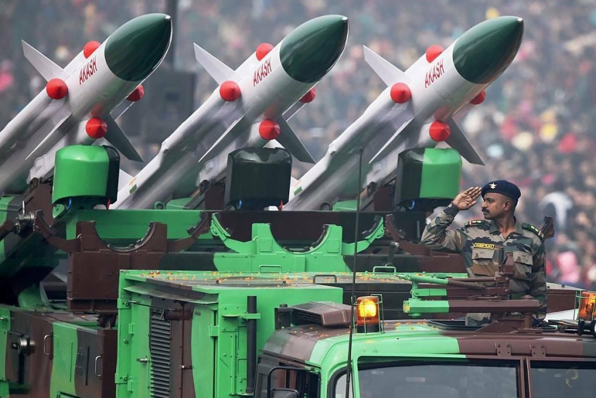 Một tổ hợp tên lửa phòng không Akash của Ấn Độ. Ảnh: BQP Ấn Độ.
