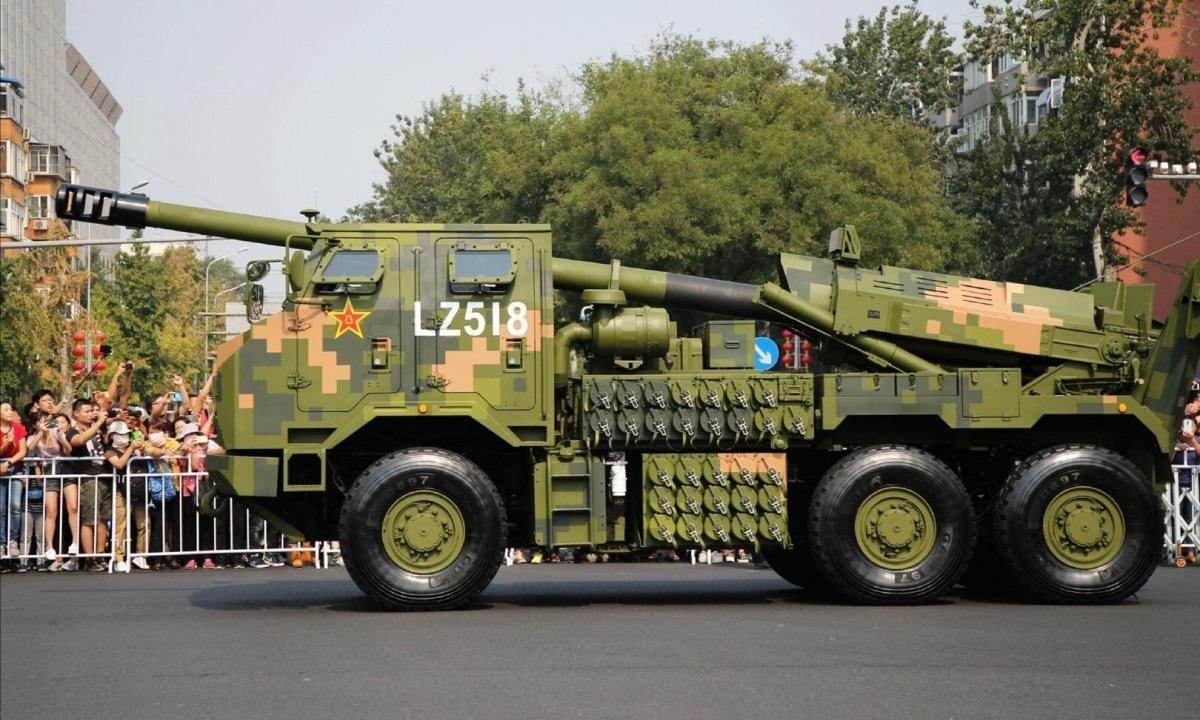 Pháo tự hành PCL-181 trong lễ duyệt binh ngày 1/1/2019. Ảnh: SCMP.
