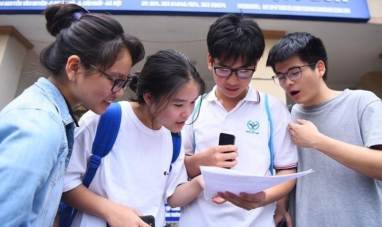 Thí sinh dự thi THPT tại Hà Nội năm 2019. Ảnh: Giang Huy