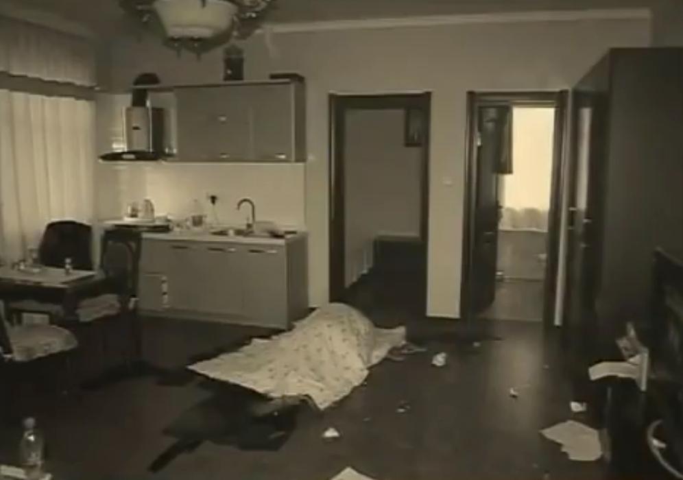 Hiện trường vụ án mạng tại căn phòng 501. Ảnh: CCTV.