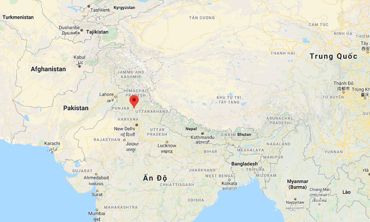Vị trí thành phố Ambala, bang Haryana, Ấn Độ. Đồ họa: Google.