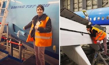 Người phụ nữ đem lòng yêu chiếc Boeing 737 - 800
