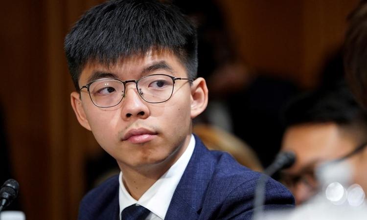 Joshua Wong tại thủ đô Washington, Mỹ, tháng 9/2019. Ảnh: Reuters.