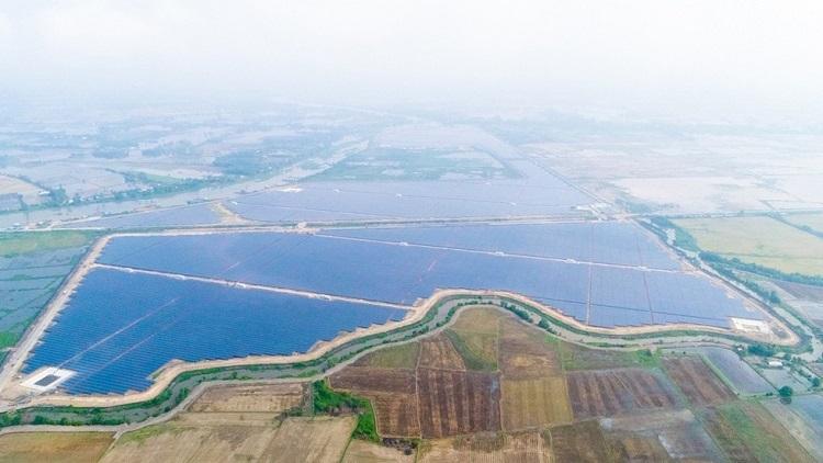 Nhà máy Điện mặt trời TTC số 01 và TTC số 02 tại Khu Công nghiệp Thành Thành Công thuộc ấp An Hội, xã An Hòa, huyện Trảng Bàng, tỉnh Tây Ninh.