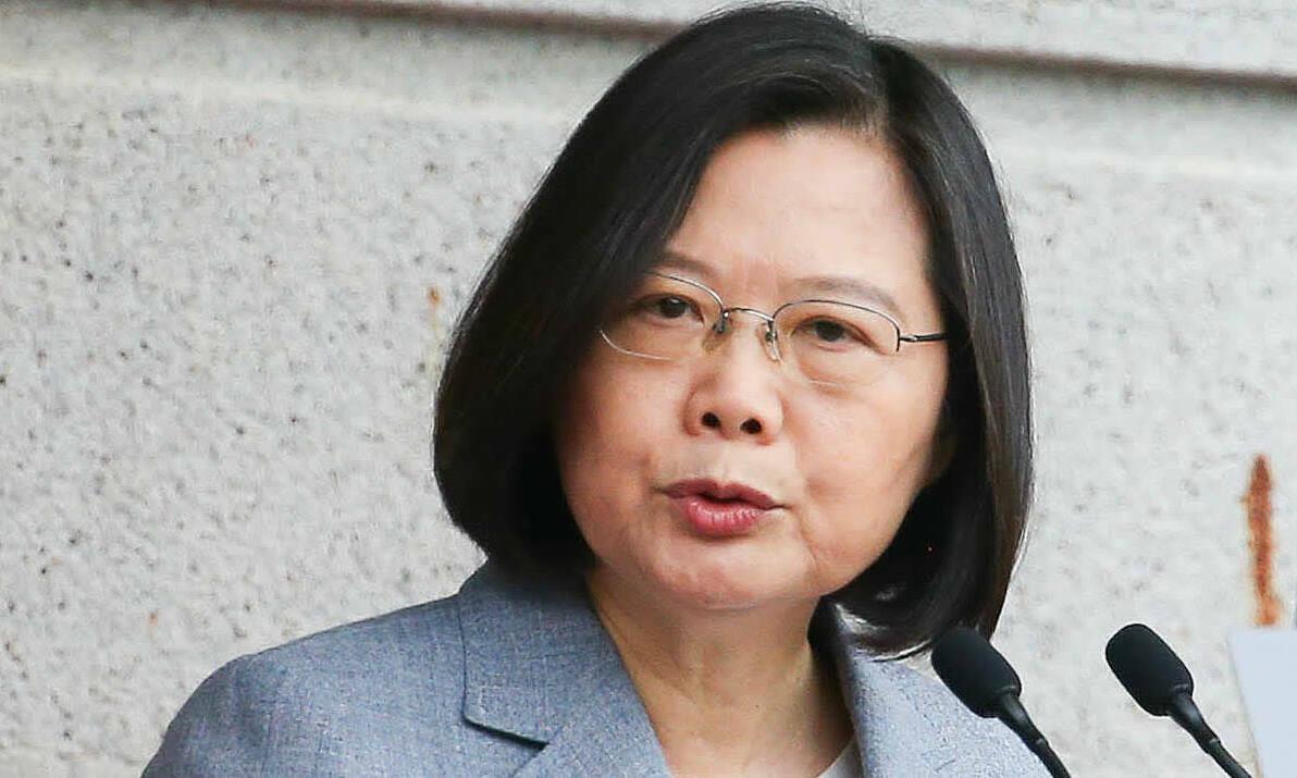 Lãnh đạo Đài Loan Thái Anh Văn phát biểu tại lễ nhậm chức hồi tháng 5. Ảnh: Kyodo.