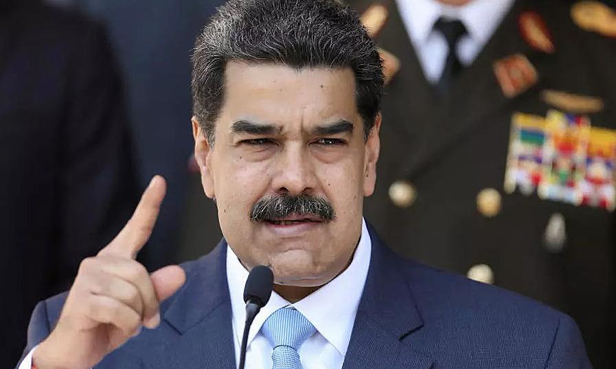Tổng thống Venezuela Nicolas Maduro phát biểu tại họp báo ở Caracas, ngày 3/3. Ảnh: Reuters.