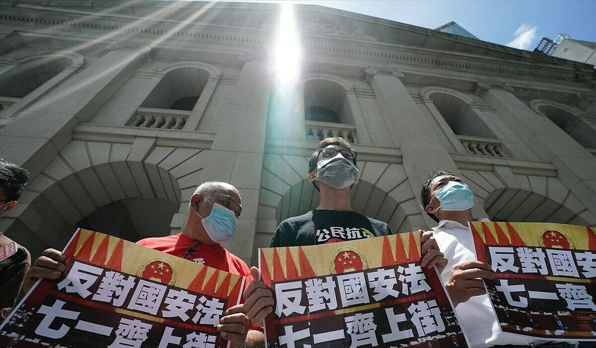 Pro-democracy politicians call for a protest march against the national security law to take place on July 1. (Picture: Felix Wong/South China Morning Post)