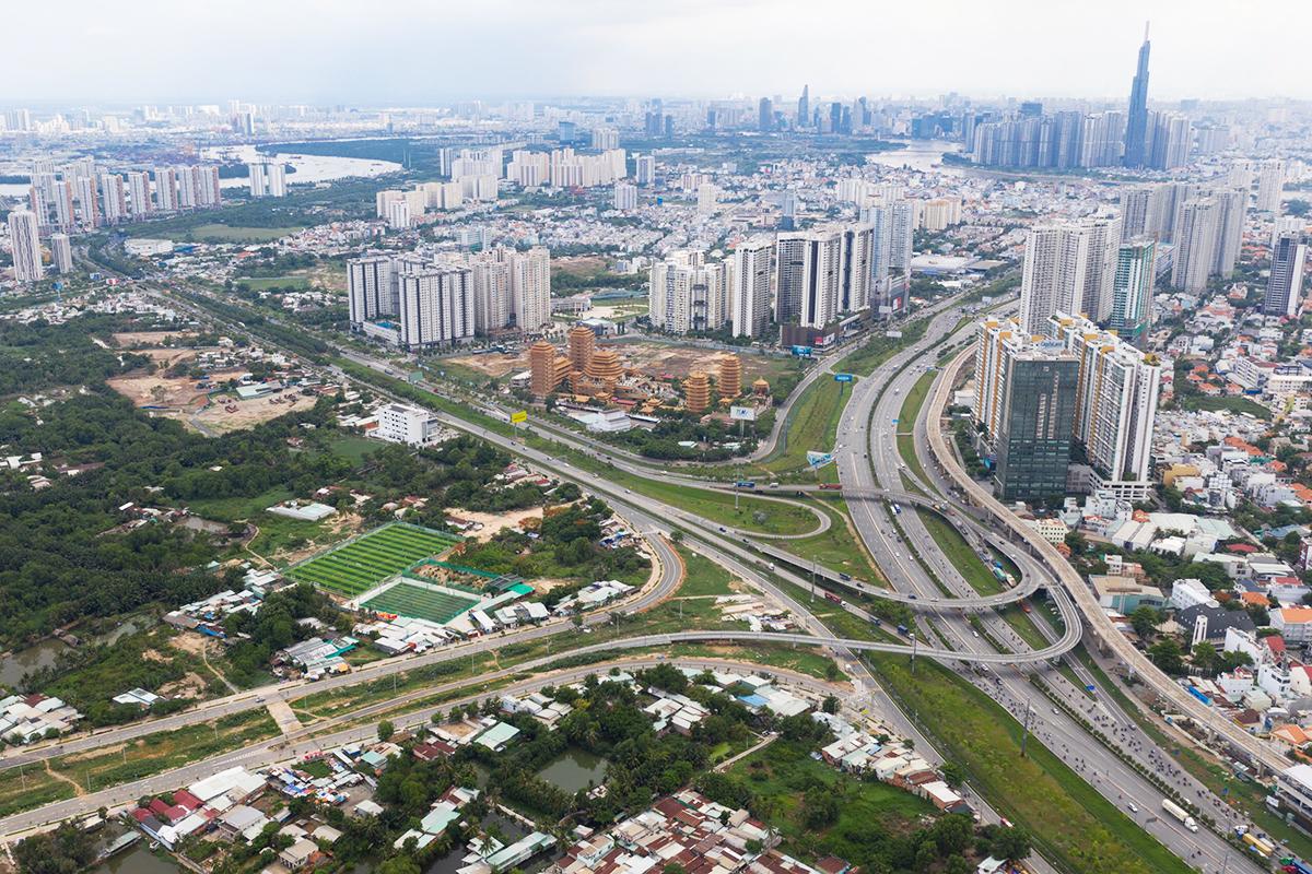 Quận 2 với trung tâm là Khu đô thị mới Thủ Thiêm sẽ là một phần của Thành phố phía Đông theo kế hoạch của TP HCM. Ảnh: Hữu Khoa.