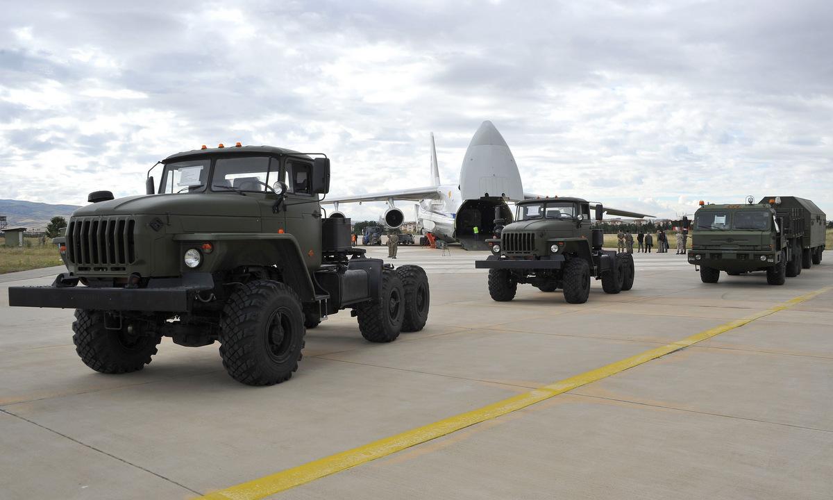 Hệ thống S-400 được Nga chuyển cho Thổ Nhĩ Kỳ năm 2019. Ảnh: Bộ Quốc phòng Thổ Nhĩ Kỳ.