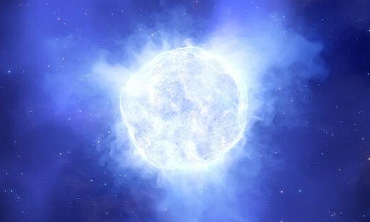 Mô phỏng ngôi sao trước khi biến mất. Ảnh: Live Science.