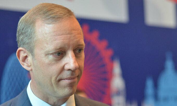 Đại sứ Gareth Ward trong sự kiện Gặp gỡ Vương quốc Anh vào cuối năm 2019. Ảnh: Mai Lâm.