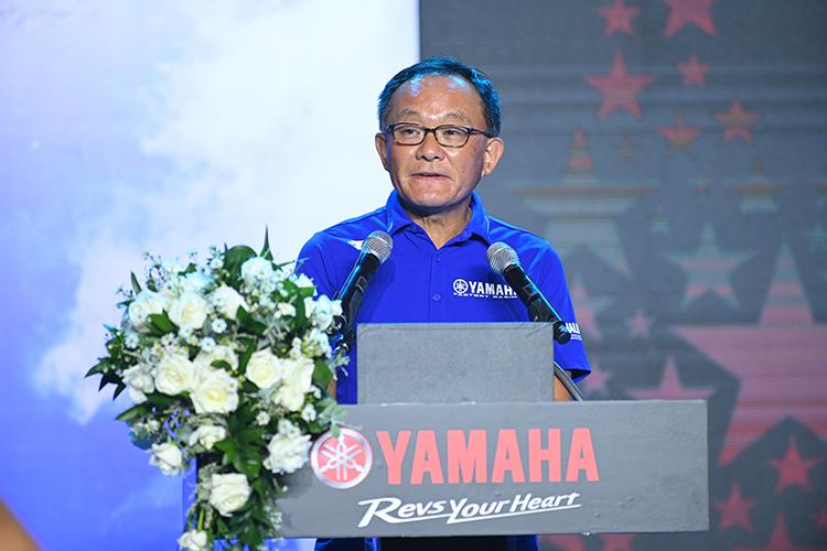 Ông Yano Takeshi – Chủ tịch Yamaha Motor Việt Nam phát biểu tại lễ ra mắt cộng đồng Y-Riders.