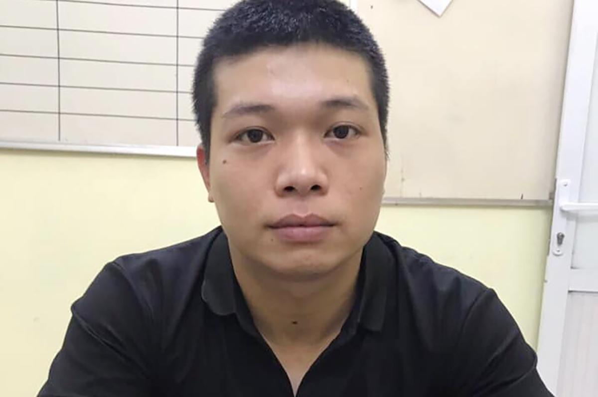 Nghi phạm Nguyễn Khắc Hải tại cơ quan điều tra. Ảnh: Công an cung cấp.