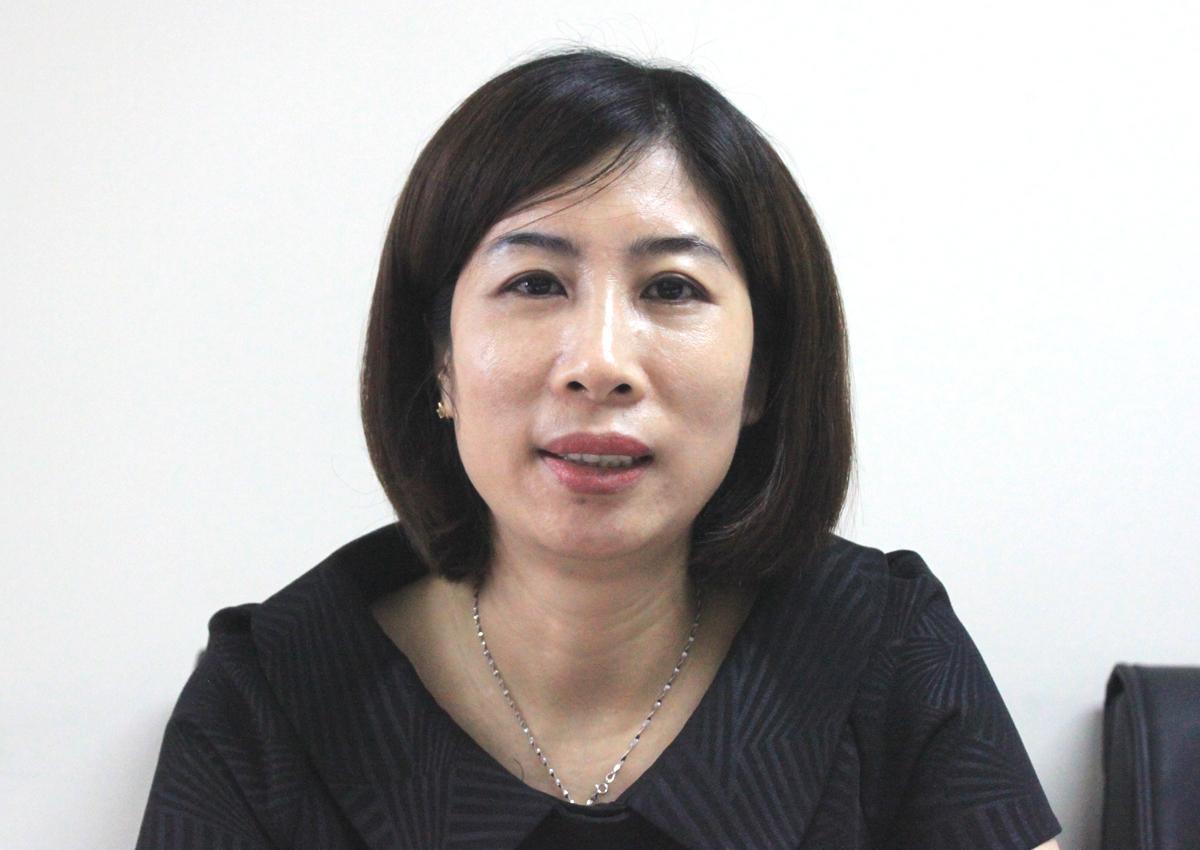 Bà Phan Thị Thu Hiền, Phó cục trưởng Đường bộ. Ảnh: Anh Duy.