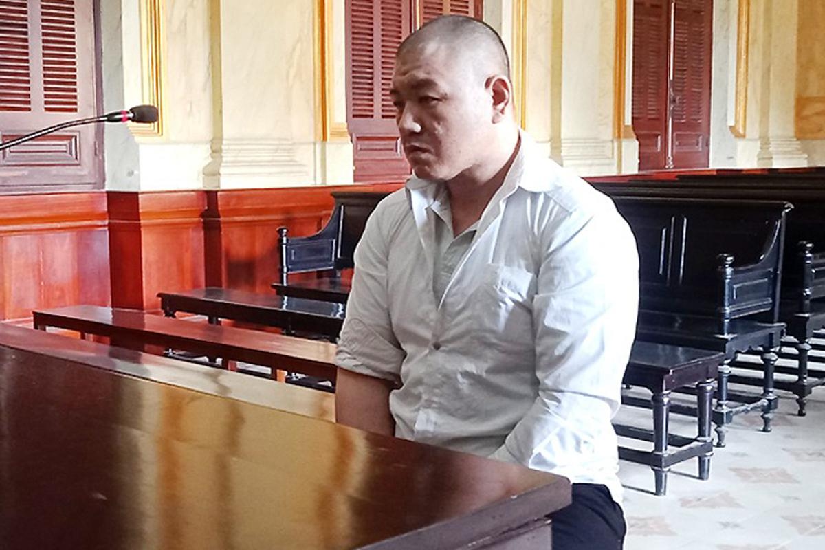 Bị cáo Chen Tsen Wei tại tòa hôm nay. Ảnh: Hải Duyên.