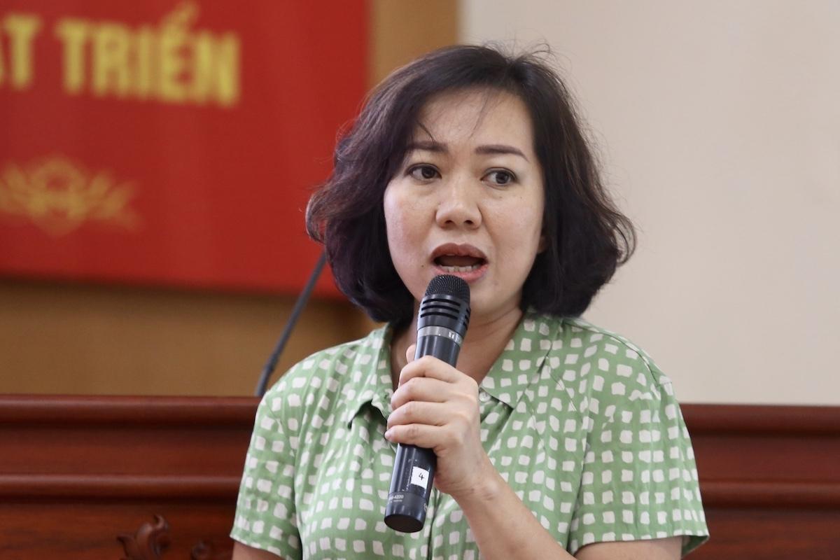 Bà Lê Thị Bích Thuỷ, trưởng phòng dự án. Ảnh: Gia Chính