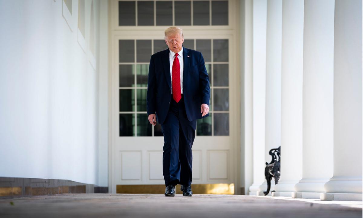 Tổng thống Donald Trump tại Nhà Trắng tháng trước. Ảnh: NYTimes.