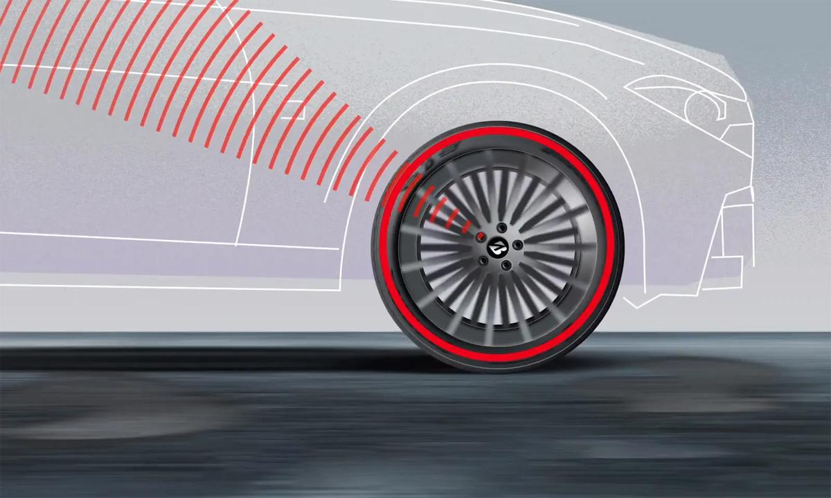 Hệ thống sử dụng các cảm biến, cảnh báo những thiệt hại hay tình trạng bất ổn của lốp. Ảnh: Bridgestone