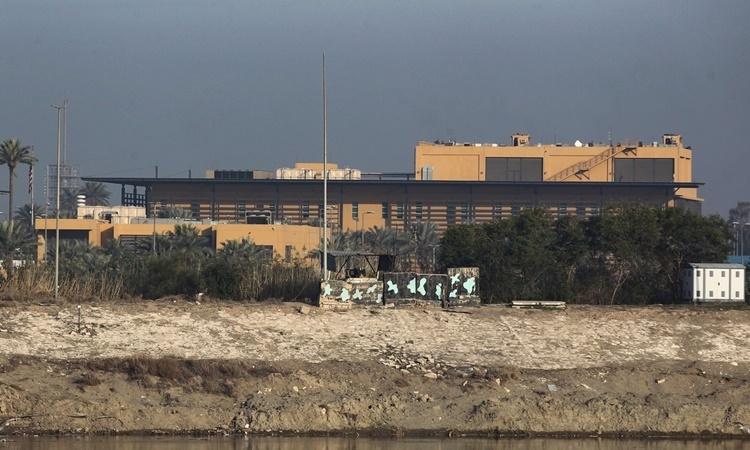 Đại sứ quán Mỹ tại Baghdad, Iraq, hồi tháng một. Ảnh: AFP.