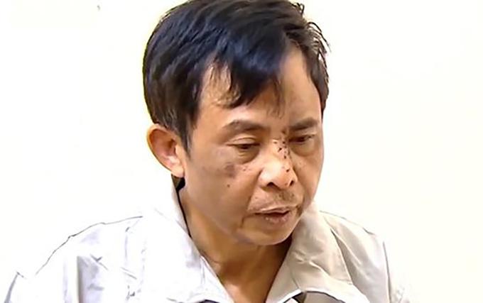 Ồng Lê Đình Công lúc bị bắt. Ảnh: VTV.