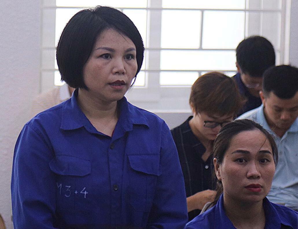 Nguyễn Thị Vững tại phiên tòa. Ảnh: T.L.
