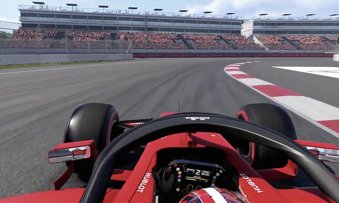 Một góc cua của đường đua F1 tại Hà Nội được tích hợp vào hệ thống mô phỏng của giải đấu. Ảnh:Formula 1.
