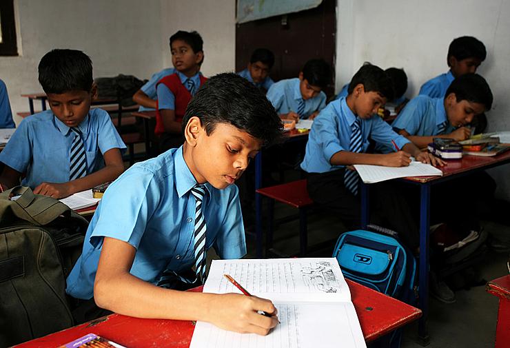 Học sinh Ấn Độ. Ảnh: Shutterstock
