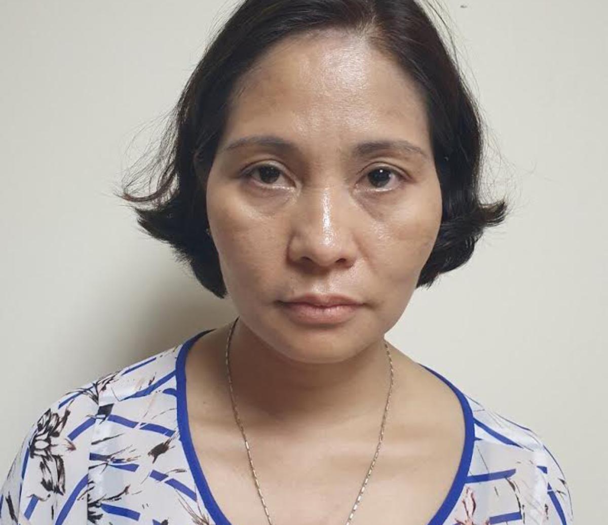 Nguyễn Thị Kim Dung trưởng phòng Tổ chức hành chính CDC Hà Nội. Ảnh: Công an cung cấp