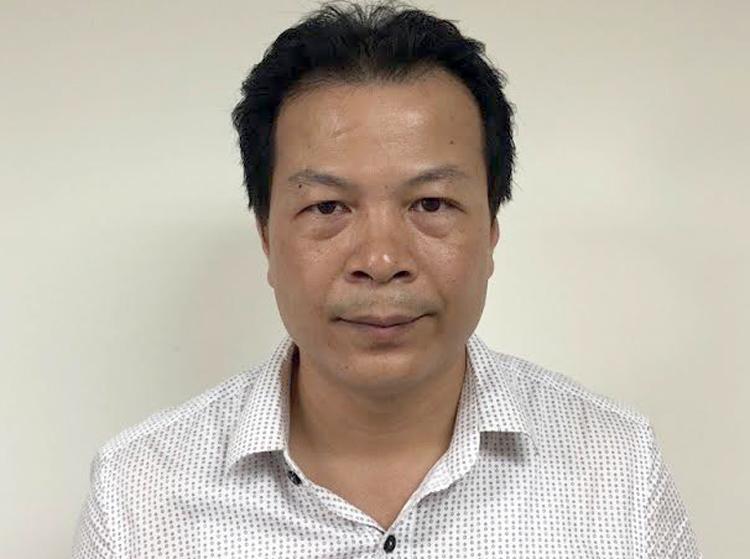 Nguyễn Ngọc Quỳnh trưởng phòng Kế hoạch nghiệp vụ CDC Hà Nội. Ảnh: Công an cung cấp