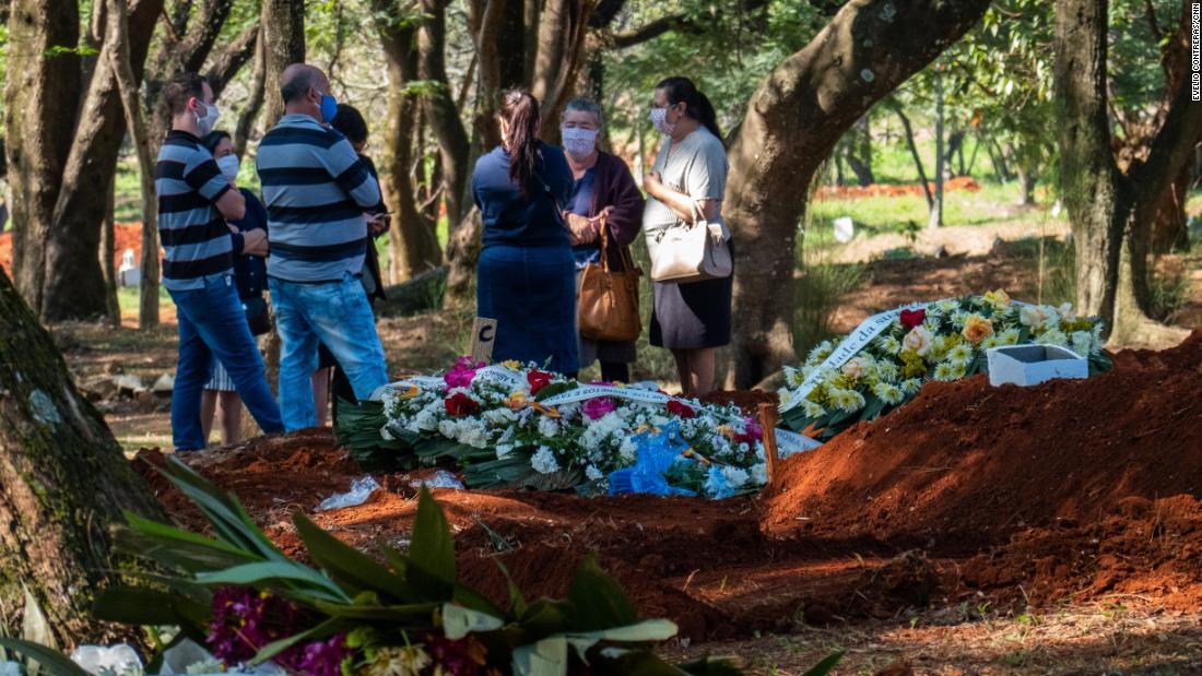 Tang lễ chóng vánh của những nạn nhân Covid-19 tại nghĩa trang Vila Formasa. Ảnh: CNN